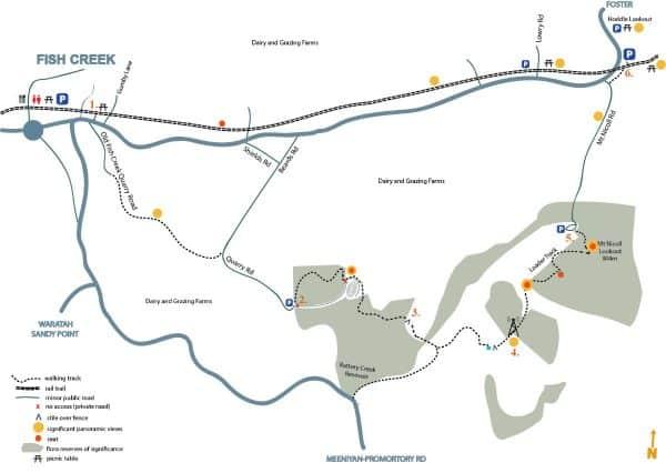Mt Nicoll walking track map